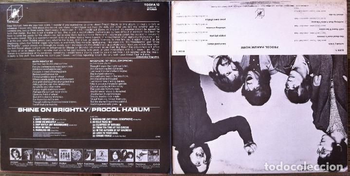 Discos de vinilo: Procol Harum - Shine on brightly+Home - 2 LP Cube Records 1972 Edición inglesa - Foto 4 - 104401979