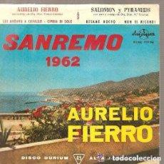 Discos de vinilo: AURELIO FIERRO & SALOMON Y PYRAMIDS (EP SAN REMO 1962). Lote 104428123