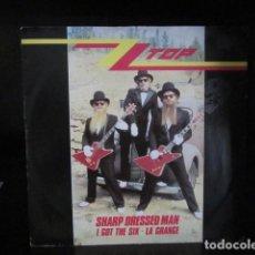 Discos de vinilo: ZZ TOP - SHARP DRESSED MAN - MAXI - EDICION INGLESA DEL AÑO 1983 - 3 TEMAS.. Lote 104450235