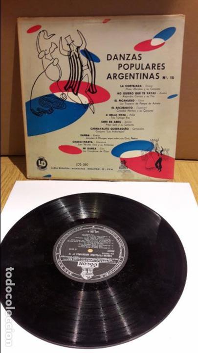 10 PULGADAS !! DANZAS POPULARES ARGENTINAS Nº 15 / LP / ODEON-ARGENTINA / BC. **/** DIFÍCIL. (Música - Discos - LP Vinilo - Grupos y Solistas de latinoamérica)