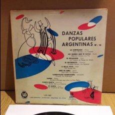 Discos de vinilo: 10 PULGADAS !! DANZAS POPULARES ARGENTINAS Nº 15 / LP / ODEON-ARGENTINA / BC. **/** DIFÍCIL.. Lote 104469055