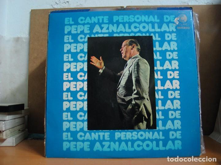 PEPE AZNALCOLLAR - EL CANTE PERSONAL DE PEPE AZNALCOLLAR - CLAVE 18-1286 S - 1972 (Música - Discos - LP Vinilo - Flamenco, Canción española y Cuplé)