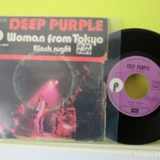 Discos de vinilo: DEEP PURPLE, ( WOMAN FROM TOKYO)1973 SINGLE 75. Lote 104499159