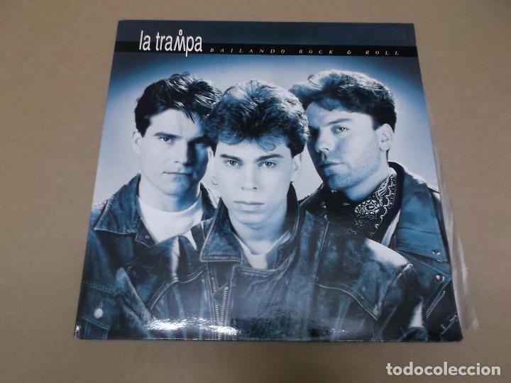 LA TRAMPA (LP) BAILANDO ROCK & ROLL AÑO 1992 – PORTADA ABIERTA (Música - Discos - LP Vinilo - Grupos Españoles de los 90 a la actualidad)