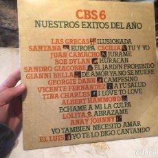 Vinyl records - Antiguo disco vinilo CBS6 nuestros exitos del año 1976 varios artistas - 104514379