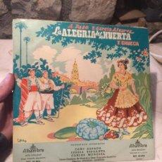 Discos de vinilo: ANTIGUO DISCO VINILO ZARZUELA LA ALEGRIA DE LA HUERTA F. CHUECA. Lote 104526687