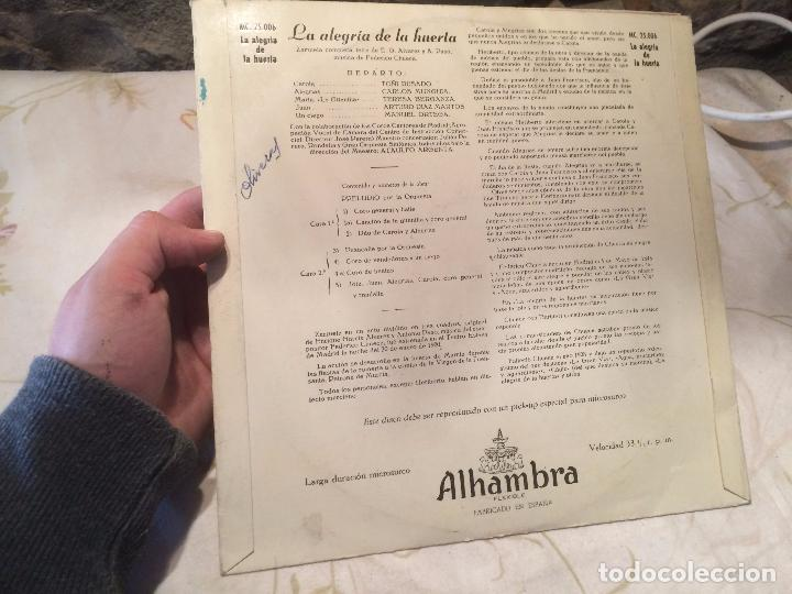 Discos de vinilo: Antiguo disco vinilo zarzuela la alegria de la huerta F. Chueca - Foto 2 - 104526687