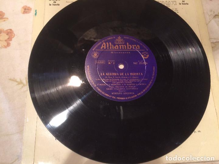 Discos de vinilo: Antiguo disco vinilo zarzuela la alegria de la huerta F. Chueca - Foto 3 - 104526687