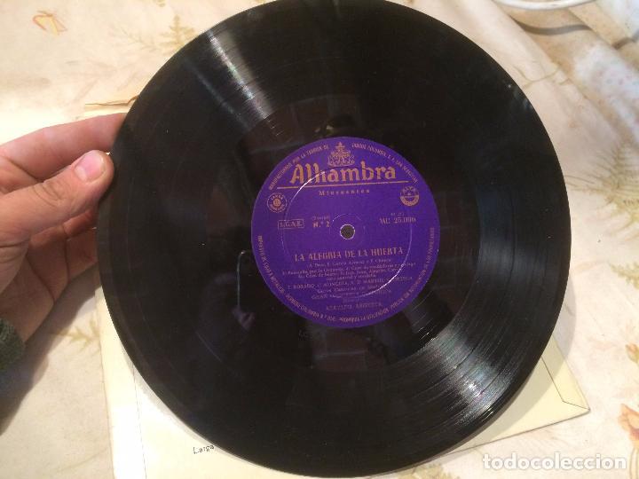 Discos de vinilo: Antiguo disco vinilo zarzuela la alegria de la huerta F. Chueca - Foto 4 - 104526687