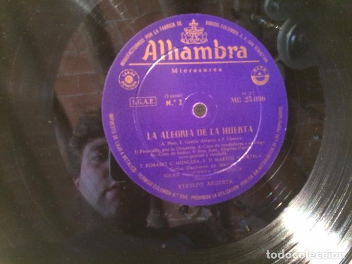 Discos de vinilo: Antiguo disco vinilo zarzuela la alegria de la huerta F. Chueca - Foto 5 - 104526687
