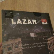 Discos de vinilo: DAVID BOWIE, LAZARUS, TRIPLE LP VINILO, THE ORIGINAL CAST RECORDING TO THE MUSICAL. Lote 104528099