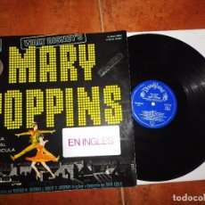 Disques de vinyle: MARY POPPINS BANDA SONORA EN INGLES WALT DISNEY LP VINILO HECHO EN ESPAÑA JULIE ANDREWS. Lote 104534007