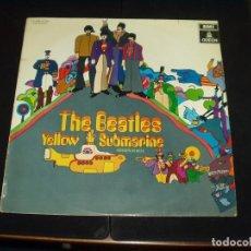 Discos de vinilo: BEATLES LP YELLOW SUBMARINE ORIGINAL ESPAÑOL LABEL ROJO VERY RARE. Lote 104536791