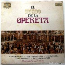 Discos de vinilo: EL MUNDO DE LA OPERETA - ALFREDO KRAUS/ANA MARÍA OLARÍA/LUIS SAGI-VELA - LP ZAFIRO 1972 BPY. Lote 104538331
