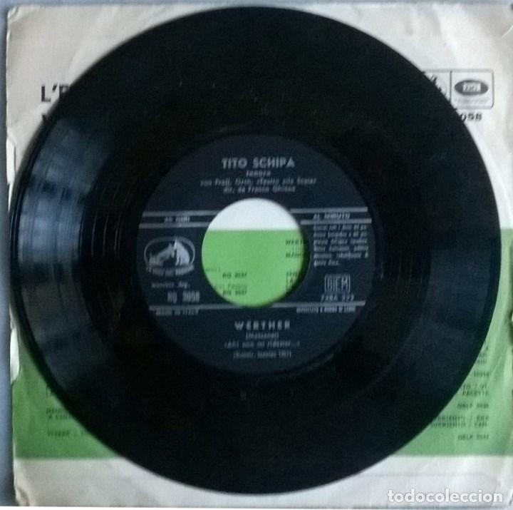 Discos de vinilo: Tito Schipa. Lelisir damore (una furtiva lacrima)/ Werther (Ah! non mi ridestar). Italia 1957 - Foto 3 - 104546939