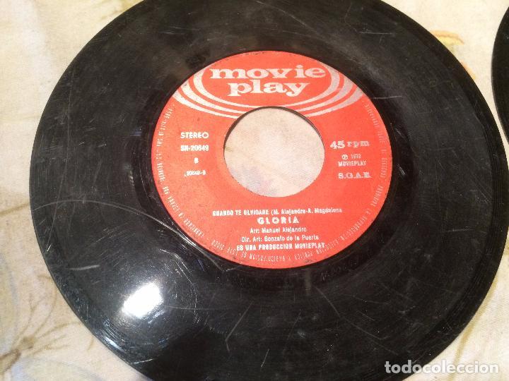 Discos de vinilo: Antiguo 4 single vinilo varios artistas, Bimbó, chango, chichos años 70 - Foto 2 - 104550779