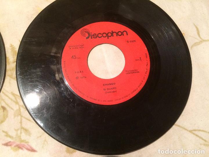 Discos de vinilo: Antiguo 4 single vinilo varios artistas, Bimbó, chango, chichos años 70 - Foto 5 - 104550779