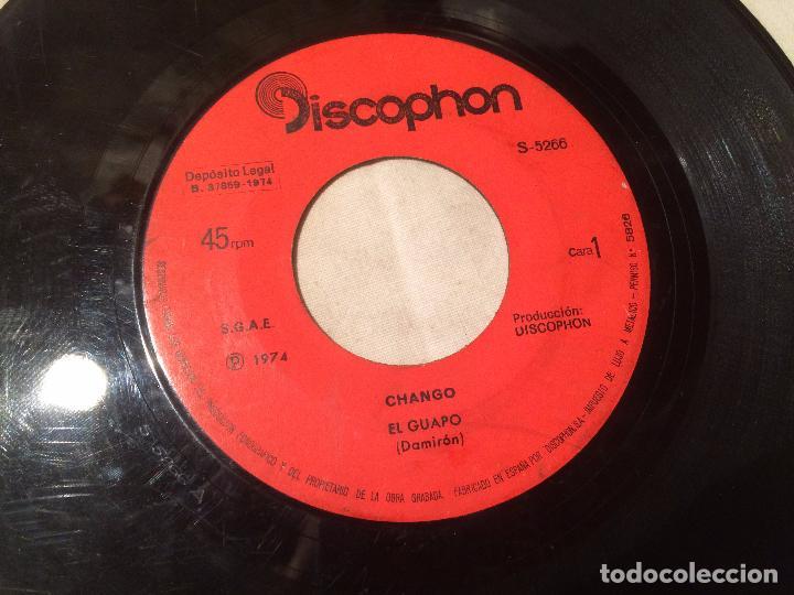 Discos de vinilo: Antiguo 4 single vinilo varios artistas, Bimbó, chango, chichos años 70 - Foto 6 - 104550779