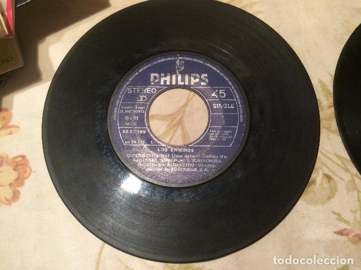 Discos de vinilo: Antiguo 4 single vinilo varios artistas, Bimbó, chango, chichos años 70 - Foto 7 - 104550779