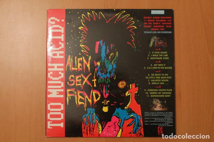 ALIEN SEX FIEND - TOO MUCH ACID? 2 LPS LIVE - PLAGUE ANAGRAM RECORDS 1989 (Música - Discos - LP Vinilo - Pop - Rock - New Wave Extranjero de los 80)