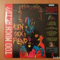 Discos de vinilo: ALIEN SEX FIEND - TOO MUCH ACID? 2 LPS LIVE - PLAGUE ANAGRAM RECORDS 1989. Lote 104551159