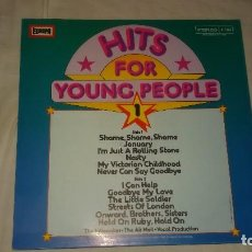 Discos de vinilo: THE HILTONAIRES • THE AIR MAIL ?– HITS FOR YOUNG PEOPLE 1. 1975. Lote 104552443