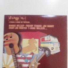 Discos de vinilo: THE HITKICKERS SERIES VOL. 6 3LP ( 1976 FESTIVAL RECORDS USA) T-BONE WALKER FREDDY FENDER LOWELL FUL. Lote 104554283