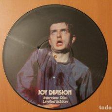 Discos de vinilo: JOY DIVISION - INTERVIEW DISC LIMITED EDITION 1978 - PICTURE DISC. Lote 104558899