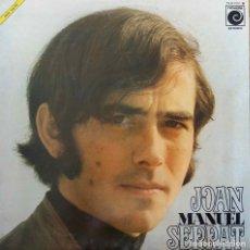 Discos de vinilo: JOAN MANUEL SERRAT. LP ORIGINAL CON PORTADA DOBLE O ABIERTA CON HOJA INTERIOR EN PAPEL CEBOLLA. Lote 104590787