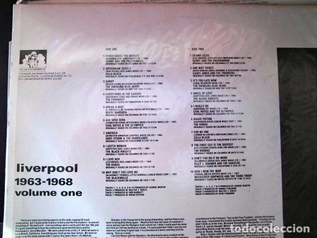 Discos de vinilo: LIVERPOOL SOUND GRUPOS BEATLES AÑOS 60 DOS DISCOS COLECCION PRIVADA - Foto 4 - 104591507