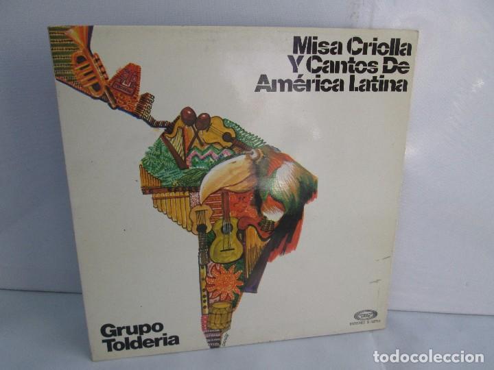 MISA CRIOLLA Y CANTOS DE AMERICA LATINA. GRUPO TOLDERIA. LP VINILO. MOVIEPLAY 1975. VER FOTOS (Música - Discos - Singles Vinilo - Étnicas y Músicas del Mundo)