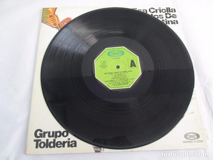 Discos de vinilo: MISA CRIOLLA Y CANTOS DE AMERICA LATINA. GRUPO TOLDERIA. LP VINILO. MOVIEPLAY 1975. VER FOTOS - Foto 5 - 104604315
