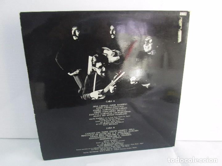 Discos de vinilo: MISA CRIOLLA Y CANTOS DE AMERICA LATINA. GRUPO TOLDERIA. LP VINILO. MOVIEPLAY 1975. VER FOTOS - Foto 11 - 104604315
