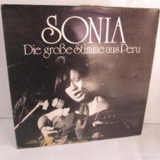 Discos de vinilo: SONIA. DIE GROBE STIME AUS PERU. LP VINILO. TONBILD. VER FOTOGRAFIAS ADJUNTAS. Lote 104605859