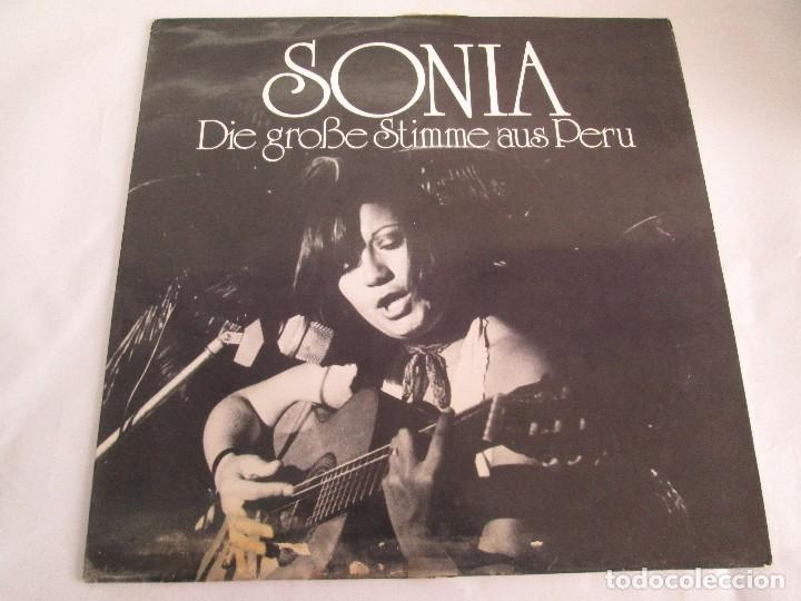 Discos de vinilo: SONIA. DIE GROBE STIME AUS PERU. LP VINILO. TONBILD. VER FOTOGRAFIAS ADJUNTAS - Foto 2 - 104605859
