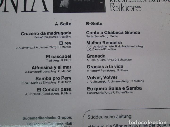 Discos de vinilo: SONIA. DIE GROBE STIME AUS PERU. LP VINILO. TONBILD. VER FOTOGRAFIAS ADJUNTAS - Foto 7 - 104605859