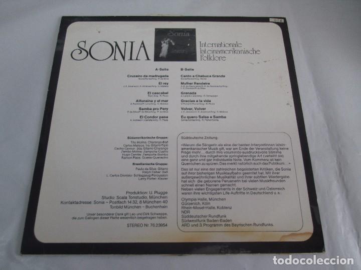 Discos de vinilo: SONIA. DIE GROBE STIME AUS PERU. LP VINILO. TONBILD. VER FOTOGRAFIAS ADJUNTAS - Foto 8 - 104605859