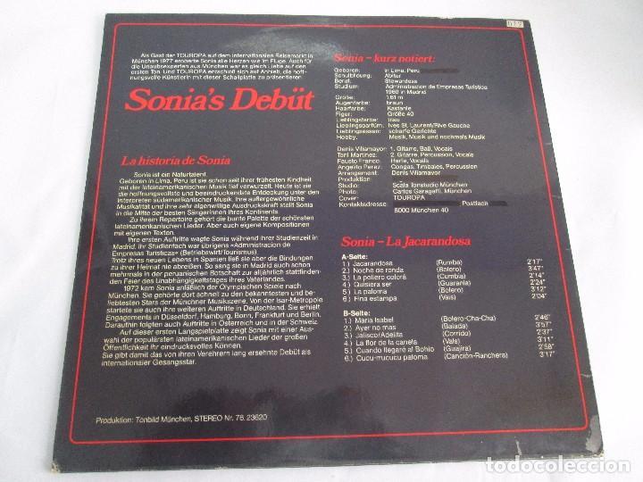 Discos de vinilo: SONIA. CANCIONES DE LATINOAMERICA. SONIA´S DEBÜT. LP VINILO. TONBILD. VER FOTOGRAFIAS ADJUNTAS - Foto 8 - 104606623