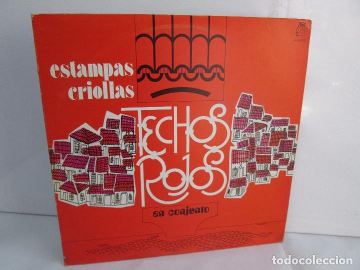 ESTAMPAS CRIOLLAS TECHOS ROJOS EN CONJUNTO. LP VINILO. GRABACIONES MUNDIALES 1980. (Música - Discos - Singles Vinilo - Otros Festivales de la Canción)