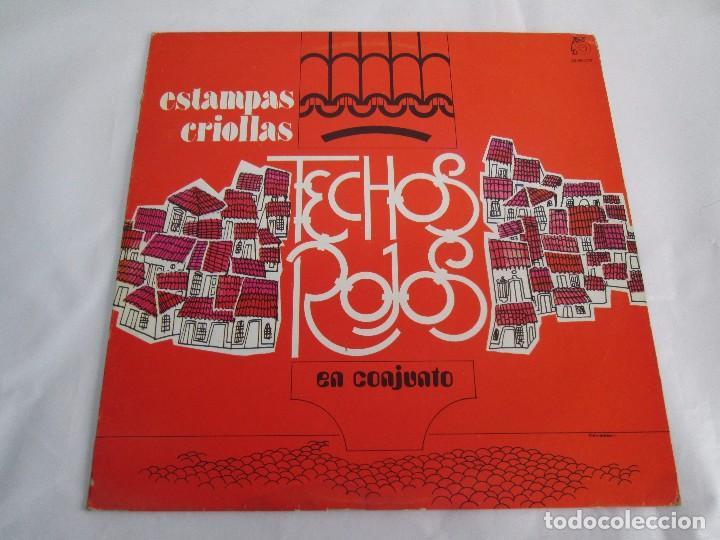 Discos de vinilo: ESTAMPAS CRIOLLAS TECHOS ROJOS EN CONJUNTO. LP VINILO. GRABACIONES MUNDIALES 1980. - Foto 2 - 104611519