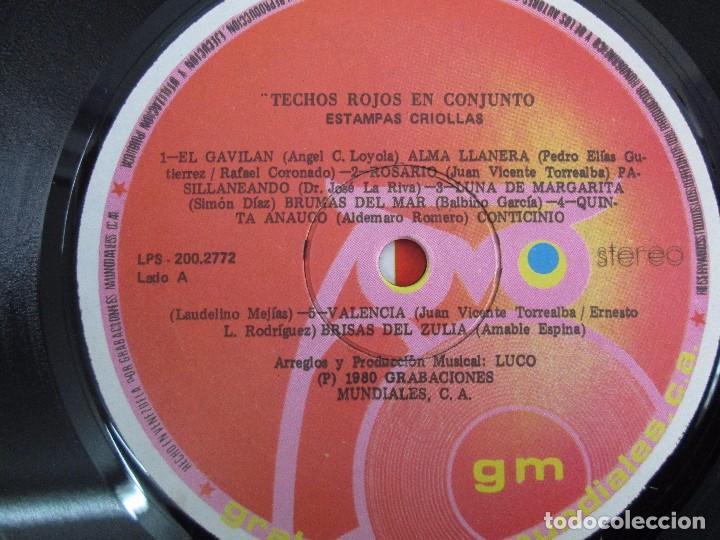 Discos de vinilo: ESTAMPAS CRIOLLAS TECHOS ROJOS EN CONJUNTO. LP VINILO. GRABACIONES MUNDIALES 1980. - Foto 4 - 104611519