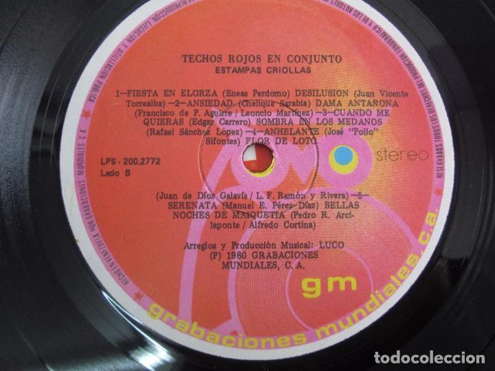 Discos de vinilo: ESTAMPAS CRIOLLAS TECHOS ROJOS EN CONJUNTO. LP VINILO. GRABACIONES MUNDIALES 1980. - Foto 6 - 104611519