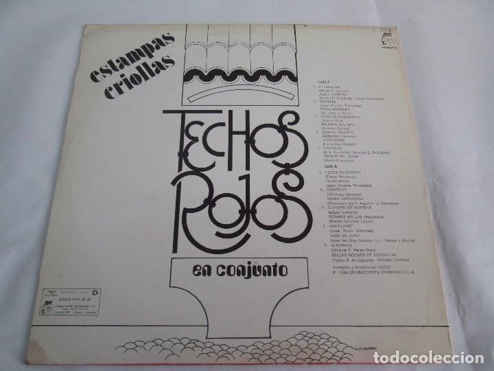 Discos de vinilo: ESTAMPAS CRIOLLAS TECHOS ROJOS EN CONJUNTO. LP VINILO. GRABACIONES MUNDIALES 1980. - Foto 8 - 104611519