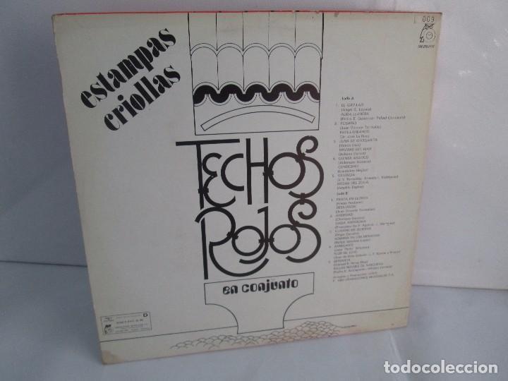 Discos de vinilo: ESTAMPAS CRIOLLAS TECHOS ROJOS EN CONJUNTO. LP VINILO. GRABACIONES MUNDIALES 1980. - Foto 9 - 104611519