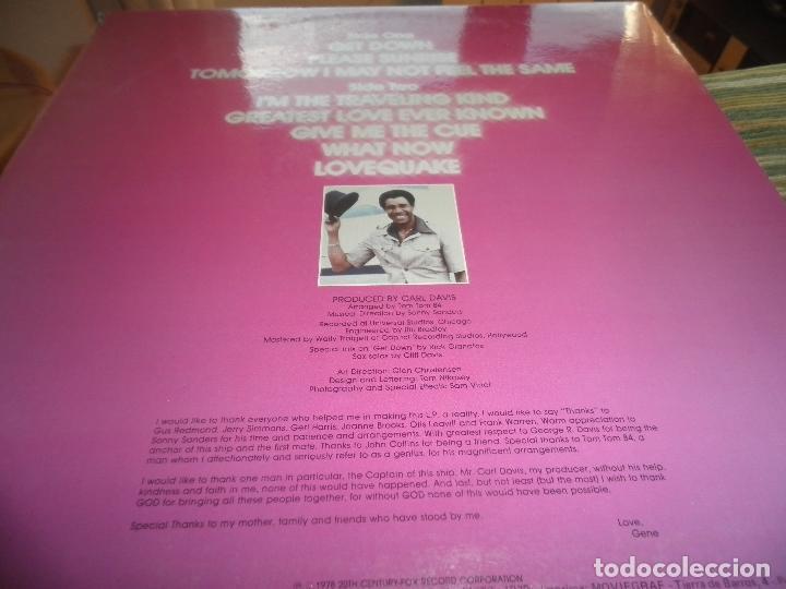 Discos de vinilo: GENE CHANDLER - GET DOWN LP - ORIGINAL ESPAÑOL - 20TH CENTURY FOX RECORDS 1979 - MUY NUEVO(5) - Foto 6 - 104618099