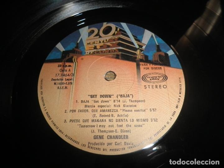 Discos de vinilo: GENE CHANDLER - GET DOWN LP - ORIGINAL ESPAÑOL - 20TH CENTURY FOX RECORDS 1979 - MUY NUEVO(5) - Foto 9 - 104618099