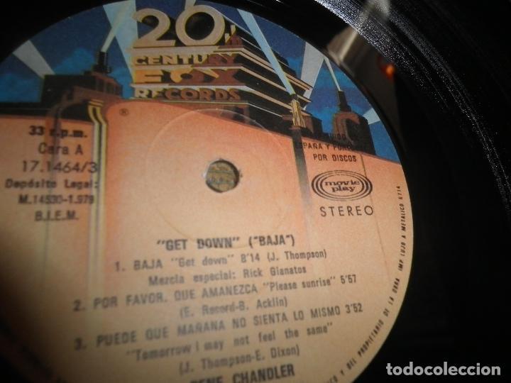 Discos de vinilo: GENE CHANDLER - GET DOWN LP - ORIGINAL ESPAÑOL - 20TH CENTURY FOX RECORDS 1979 - MUY NUEVO(5) - Foto 10 - 104618099