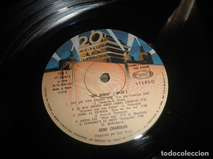 Discos de vinilo: GENE CHANDLER - GET DOWN LP - ORIGINAL ESPAÑOL - 20TH CENTURY FOX RECORDS 1979 - MUY NUEVO(5) - Foto 12 - 104618099