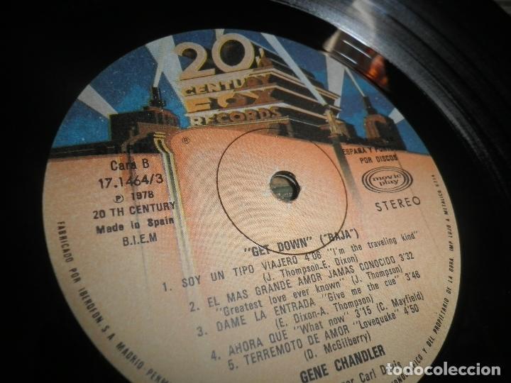 Discos de vinilo: GENE CHANDLER - GET DOWN LP - ORIGINAL ESPAÑOL - 20TH CENTURY FOX RECORDS 1979 - MUY NUEVO(5) - Foto 13 - 104618099