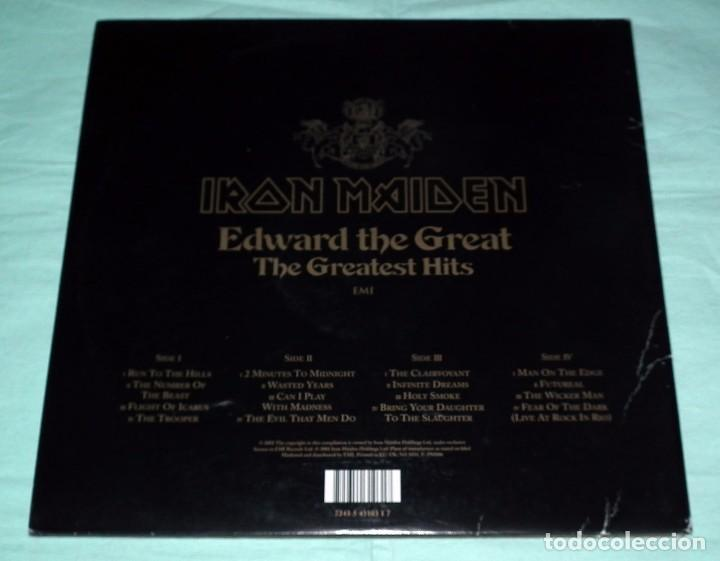 Discos de vinilo: LP IRON MAIDEN - EDWARD THE GREAT - DOBLE PICTURE DISC - Foto 2 - 104645735